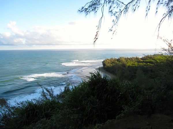 Beach view from the trail