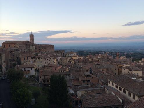 Sunset over Montepulciano