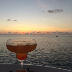 Cocktail on the boat!