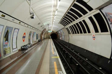 Angel Tube station empty