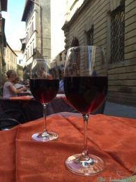 Drinking Montalcino in Cortona