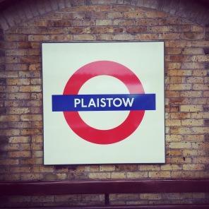 Plaistow tube sign