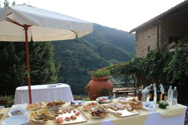Pian Di Fiume wedding antipasti