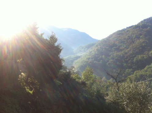 Sunrise over the hills in Bagni di Lucca