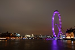 Thames view London eye