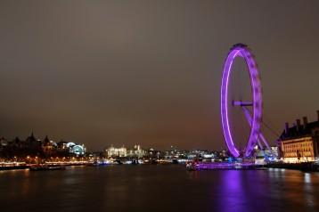 Thames view London eye