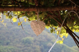 Tuscan wedding decoration heart