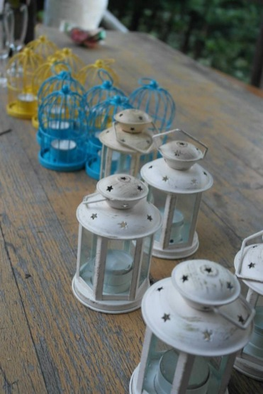 Tuscan wedding lanterns