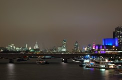 View from Blackfriars bridge at night