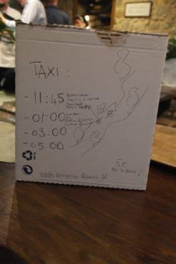 Wedding Taxi times